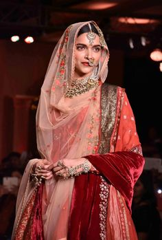 rich, regal colors and textures | deepika padukone in anju modi's for bajirao mastani