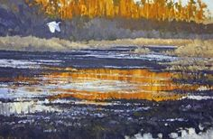 Wetland Sunset by Joe Garcia Oil ~ 14 x 21