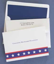 Stars & Stripes Notes, Lined Envelopes Included!