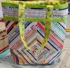 selvedge tote bag - for inspiration