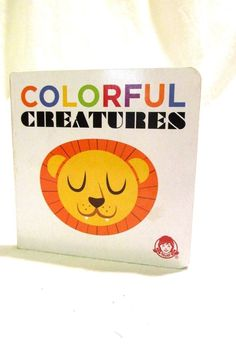 Colorful Creatures Baby Toddler Boardbook Wendys Promotional #Wendys