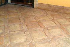 Photo of a coffered sandpapered handmade cotto floor Terracotta Floor, Stone Mosaic, Rustic Kitchen, Tile Floor, Tiles, Flooring, Ceramics, Interior, Handmade