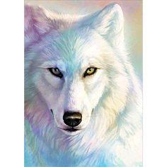 The white wolf diy diamond painting cross stitch of diamond embroidery diamond mosaic decoration gifts Cross Paintings, Animal Paintings, Wolf 3d, Snow Wolf, Realistic Eye Drawing, Drawing Tips, Drawing Ideas, Wolf Painting, Painting Snow