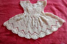 vestidos tejidos en crochet para bautizo - Buscar con Google