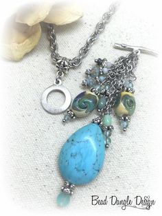 Czech glass and seed bead interchangeable beaded pendant necklace interchangeable glass lampwork crystals beaded dangle necklace 855d beaddangledesign aloadofball Choice Image