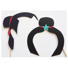 Disney Party Ideas:  Mulan Party Photo Booth Props