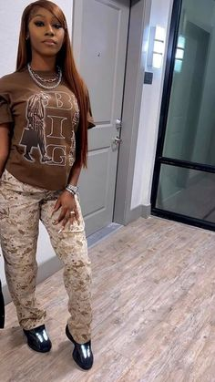 Swag Outfits For Girls, Cute Swag Outfits, Chill Outfits, Cute Summer Outfits, Teen Fashion Outfits, Plaid Shirt Outfits, Baddie Outfits Casual, Black Girl Fashion, Streetwear Fashion