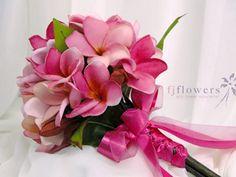 pinkfrangipani bouquets