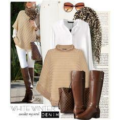 Anfänger Guide: Denim Fashion Trends - Mode für Frauen - Best Of Women Outfits Winter Fashion Casual, Winter Outfits Women, Fall Outfits, Casual Summer, Casual Outfits, Casual Fall, White Casual, Casual Chic, Casual Wear