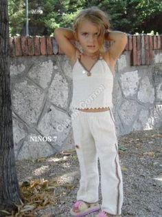 #Mädchen Sommer #Hose aus #Pima #Baumwolle mit passendem Top,  4 bis 8 Jahre  Unsere verarbeitete Pima Baumwolle ist naturbelassen und nicht chemisch gefaerbt. Natürliche Mode, freundlich zu Ihrer Haut und Umwelt, aus #Peru