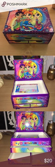 vintage LISA FRANK Vintage Lisa Frank stationery box jewelry box keepsake collectible box 1990s vintage retro. 🦄💗💛💜💖💫🌈🐯🦋🐶🌼👽// in excellent condition - comes with some original unused Lisa Frank stationery // WILL consider offers! Lisa Frank Other