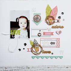 Love You by Piradee Talvanna using Cocoa Daisy February 2015 kits (Journal Entry) #scrapbooking #cocoadaisykits #cocoadaisy #scrapbooking #baby #family #baby #kitclub #everyday #life #love