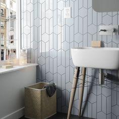 a019ca56c8a Chevron Hexagon White Matt 12.4cm x 10.7cm Wall Tile PER BOX. See more.  Chevron Sky Blue Right 18.6 x 5.2cm Wall Tile PER BOX