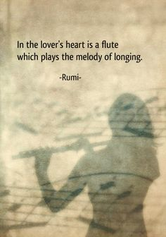 Draw & Wings. - In the lover's heart is a flute which plays the...