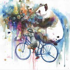 Panda Bear + Bicycle ☺