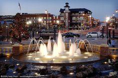Bricktown at night Oklahoma City Oklahoma