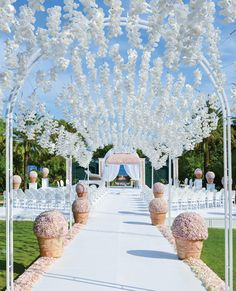 5 Wedding Flower Design Ideas from Celebrity Designer Preston Bailey - Don't Forget to Look Up! from #InStyle