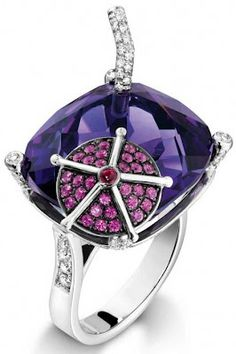 Piaget blueberry daiquiri ring.  Via Diamonds in the Library.