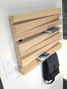 Slovenia-based architecture students Tadej Podakar and Luka Fabjan of TRIpike studio envisioned an elegant shelving unit combining simplicity and usability Wood Furniture, Furniture Design, Store Venitien, Shelving Design, Regal Design, Partition Design, Support Mural, Small Space Living, Wooden Shelves