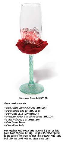 Decorate your glass to look like an elegant flower.