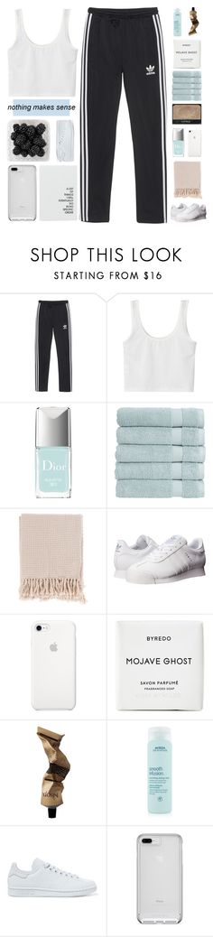 """""""COLLAB WITH ASTRID"""" by constellation-s ❤ liked on Polyvore featuring adidas Originals, Christian Dior, Christy, Surya, NARS Cosmetics, Byredo, Aesop and Aveda"""