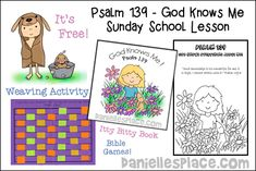 Free Sunday School Lesson for Children - Psalm 139 - God Knows Me