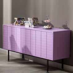 Matrix retro dvířková komoda ve fialové barvě / cabinet Komodo, Dresser, Cabinet, Retro, Storage, Furniture, Home Decor, Clothes Stand, Purse Storage