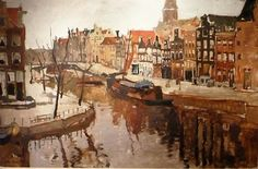 Art Blog - Cityscape Painting by Dutch Artist George Hendrik Breitner & other Dutch artist's work.