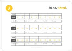 Terapie domova 30 Day Shred, Periodic Table, Bullet Journal, Fitness, Periodic Table Chart, Periotic Table