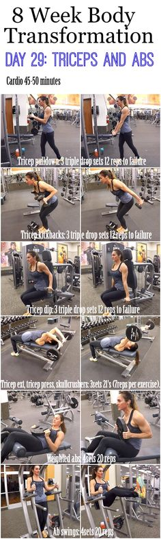 8 Week Body Transformation Day 29: Triceps and Abs