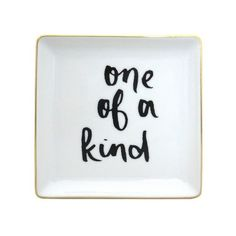 \'One of a Kind' Trinket Dish ($4.18) ❤ liked on Polyvore featuring home, home decor, small item storage and threshold home decor