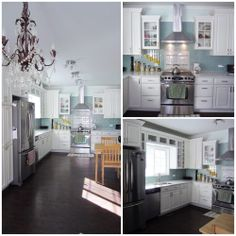 [Student Interior of the Week]   One of our Students' Michelle Fawdrey has renovated this outstanding kitchen.  We love the gorgeous chandelier!