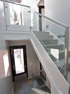 Staircase Vertical Wire Rail Design, Pictures, Remodel, Decor and Ideas - page 11