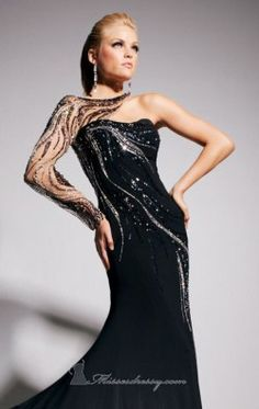 Asymmetrical gown by Tony Bowls Evenings TBE11315