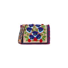 Tory Burch Embroidered Floral Combo Cross Body Bag (€430) ❤ liked on Polyvore featuring bags, handbags, shoulder bags, marion multi, crossbody purses, floral crossbody, floral crossbody purse, floral shoulder bag and faux leather shoulder bag