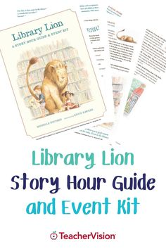 Looking for story time ideas? Introduce young children to the library by hosting a Library Lion story hour by using this downloadable printable. Enhance children's reading experience with the discussion questions, craft projects, and singing activity in this printable event kit! Perfect for PreK-2nd Grade students. Reading Resources, Reading Skills, Teacher Resources, Kindergarten Worksheets, Kindergarten Activities, Lion Story, Graphic Organizers, Young Children, Learn To Read