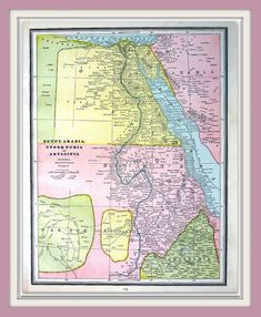 Egypt nile delta suez canal cairo 1905 map world of maps map of egypt upper nubia and abyssinia 1883 antique map crams world gumiabroncs Choice Image