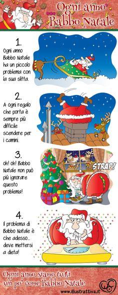 """""""Ogni anno Babbo Natale"""". Qual'è il misterioso problema di Babbo #Natale? Tutta la storia completa in questo #fumetto per #bambini. Seguimi su https://www.facebook.com/IllustrAttiva"""