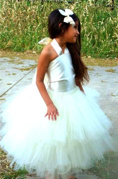 Satin Halter Corset Top And Fluffy Double Layered tutu dress Set Custom Made To Order     $90