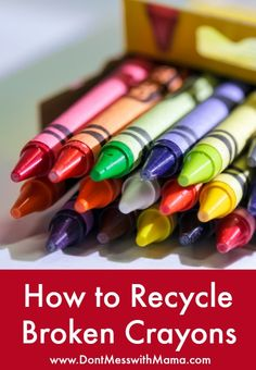 How to Recycle Broken Crayons - DIY Recycled Crayons #DIY #upcycle - DontMesswithMama.com