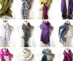 Many ways to wear scarf's