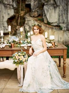 An enchanted forest bridal shoot in a pink marble quarry turned wedding venue in Knoxville, TN with a blush wedding dress and rustic copper decor! Wedding Scene, Dream Wedding, Enchanted Forest Wedding, Rustic Wedding Reception, Blush Bridal, Bridal Shoot, Wedding Trends, Wedding Colors, One Shoulder Wedding Dress