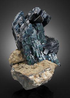 Vivianite. Morococala Mine, 280 Meter Level, Santa Fé Mining District, Dalence Province, Oruro Department, Bolivia.