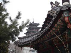 Grounds of Deouksugung Palace. Seoul, Korea
