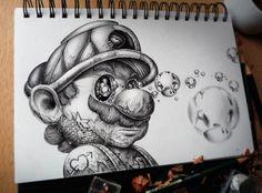 Strange Cartoon Character Drawings by Pez Artwork