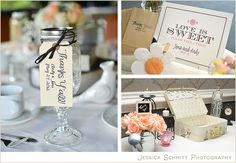 Favors and Card Table Decor at Hidden Creek Country Club - Jessica Schmitt Photography
