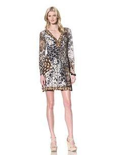 Hale Bob Women's Long Sleeve V-Neck Dress (Neutral)
