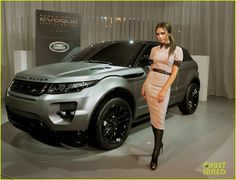 Range Rover Evoque - Victoria Beckham design, matte black, rose gold trim interior. Only 200 will be sold. I love everything about her style!
