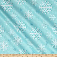 Michael Miller Winter Frost Snowfall Blizzard from @fabricdotcom  From Michael Miller, this cotton print features metallic foil printing throughout and is perfect for quilting, apparel and home decor accents. Colors include turquoise and white with metallic silver accents.