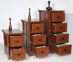 Wood Vertical File Cabinets